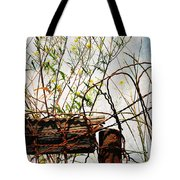 Yard Of The Hippies  Tote Bag