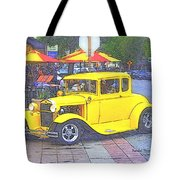 Yellow 1930's Ford Roadster Tote Bag