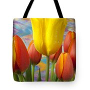 Yellow And Orange Tulips Tote Bag