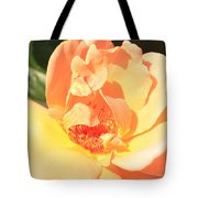 Yellow And Peach Rose Tote Bag