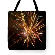 Yellow And Red Fireworks Tote Bag