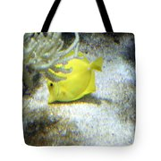 Yellow Angelfish Tote Bag