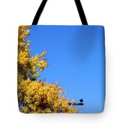 Yellow Autumn Tree Tote Bag