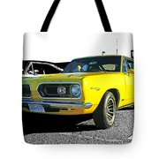 Yellow Barracuda Tote Bag