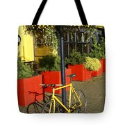 Yellow Bicycle Vancouver Canada Tote Bag