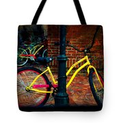 Yellow Bike Tote Bag