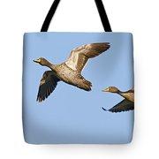 Yellow-billed Duck Anas Undulata Pair Tote Bag