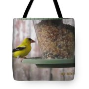 Yellow Bird Up Close Tote Bag