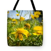Yellow Blooming Wildflowers Tote Bag