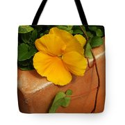 Yellow Blossom On Planter Tote Bag