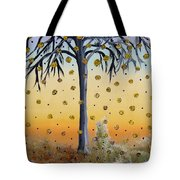 Yellow-blossomed Wishing Tree Tote Bag