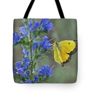 Yellow Cabbage Butterfly Tote Bag
