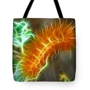 Yellow Caterpillar Fractal Tote Bag