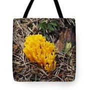 Yellow Coral Mushroom Tote Bag