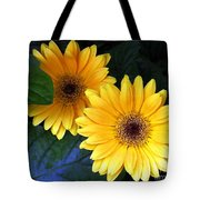 Yellow Dahlias Tote Bag