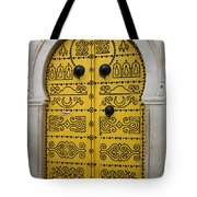 Yellow Door In Bardo Tote Bag
