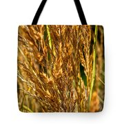 Yellow Feather Reed Grass Tote Bag