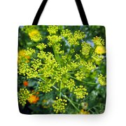 Yellow Firework Or Dill In Its Glory Tote Bag