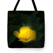 Yellow Flower Against Green Tote Bag