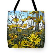 Yellow Flowers By The Roadside Tote Bag