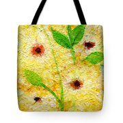 Yellow Flowers Laugh In Joy Tote Bag by Ashleigh Dyan Bayer