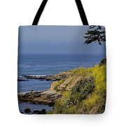 Yellow Flowers On The Central California Coast Tote Bag