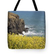 Yellow Flowers On The Northern California Coast Tote Bag