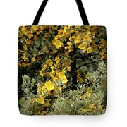 Yellow Flowers On Tree Tote Bag