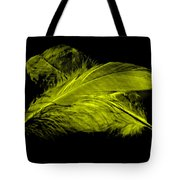 Yellow Ghost On Black Tote Bag
