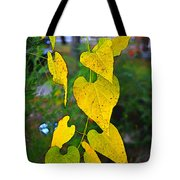 Yellow Heart Leaves  Photoart I Tote Bag
