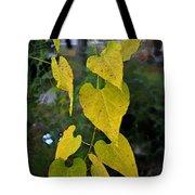 Yellow Heart Leaves Photoart II Tote Bag