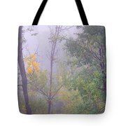 Yellow In The Fog Tote Bag