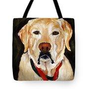 Yellow Labrador At Christmas Tote Bag