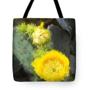Yellow Lace Unveiled Tote Bag