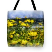 Yellow Landscape Tote Bag