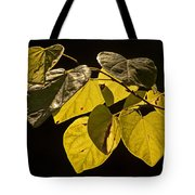 Yellow Leaves On A Tree Branch Tote Bag