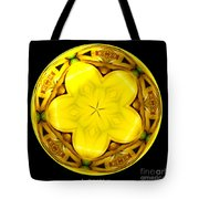 Yellow Lily Kaleidoscope Under Glass Tote Bag