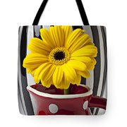 Yellow Mum In Pitcher  Tote Bag