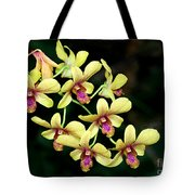 Yellow Orchid Cascade Tote Bag