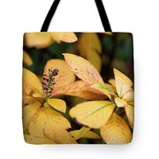 Yellow Petal Leaf With Sprig Tote Bag