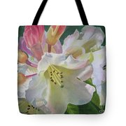 Yellow Rhododendron With Buds Tote Bag