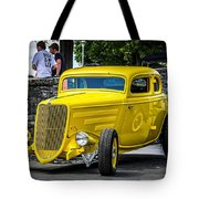 Yellow Rod Tote Bag