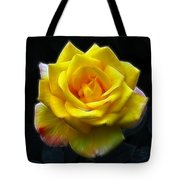 Yellow Rose In The Moonlight Tote Bag