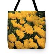 Yellow Sea Of Flowers Tote Bag