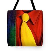 Yellow Silk Tie Tote Bag