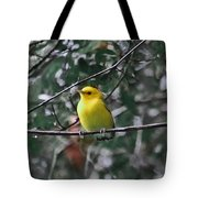 Yellow Songbird Tote Bag