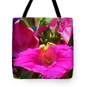 Yellow Spider In The Sun Tote Bag