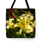 Yellow Splash Tote Bag