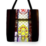 Yellow Stained Glass Window Tote Bag