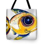 Yellow Study Fish Tote Bag